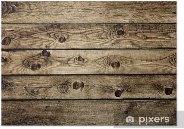 Plakat Tekstura - drewniane deski starych - Tekstury