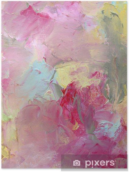 Plakat Tekstury kolor oleju malowane i zagruntować - Sztuka i twórczość