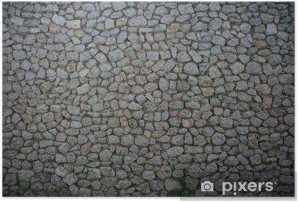 Plakat Tekstury ścian z kamienia - Europa
