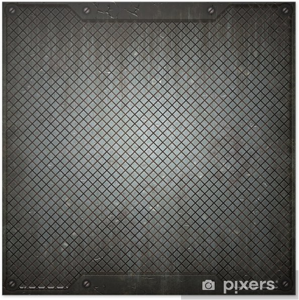 Plakat Tekstury z metalu - Style