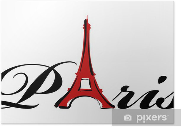 Plakat Temat Paris - Miasta europejskie