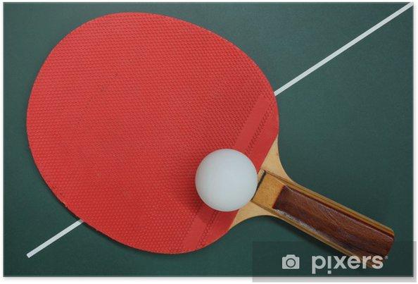 Plakat Tenis stołowy - Artykuły sportowe