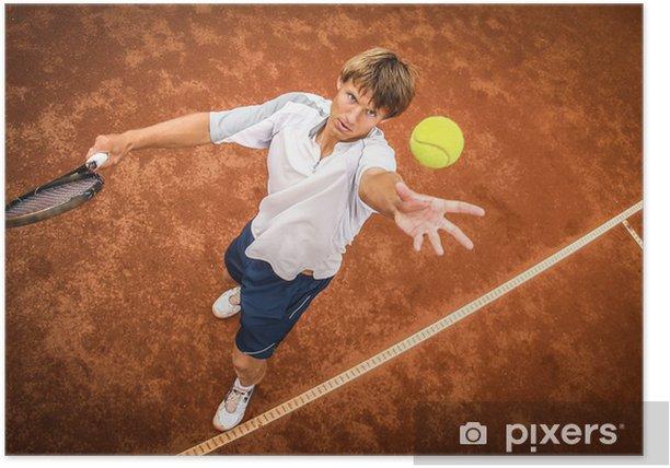 Plakat Tenisista - Tenis