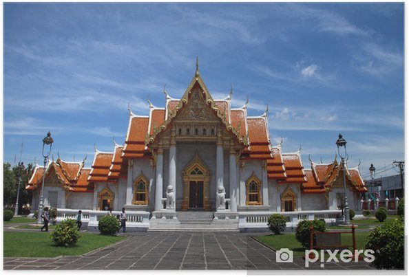 Plakát Thajský buddhistický chrám v Bangkoku - Asie