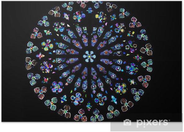 Plakát The Rose Window of Santa Maria del Pi, Barcelona. - Evropská města