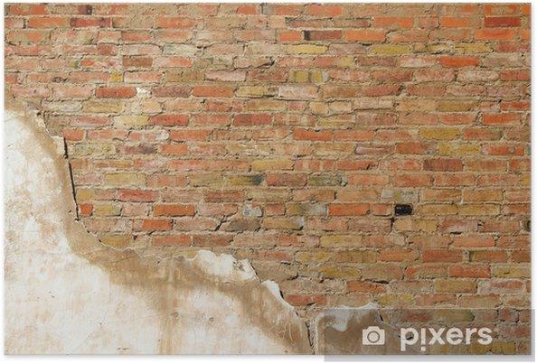 Plakat Tła tekstury ściana starego odcinka ściany - Przemysł ciężki