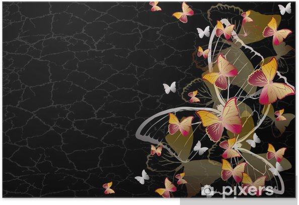 Plakat Tło Butterfly - Inne Inne