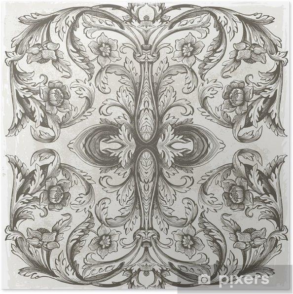 Plakat Tło kwiatowe - Tematy