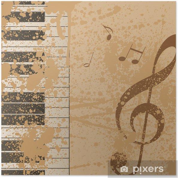 Plakat Tło Muzyczne Notatki Wektor Klucz Wiolinowy