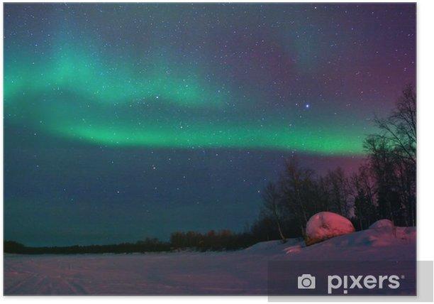 Plakat Tło pokazując zorzy polarnej na niebie - Inne uczucia
