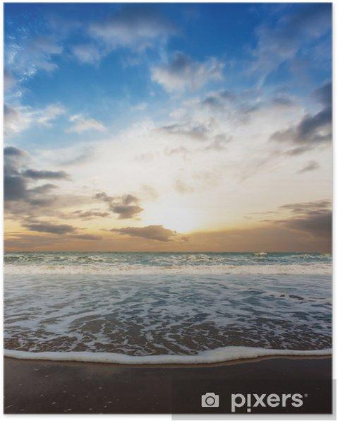 Plakát Tmavě krása pláž - Nebe