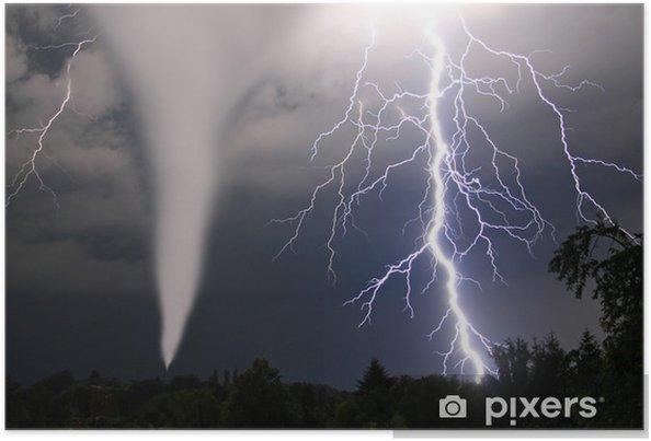 Plakat Tornado und Blitze -