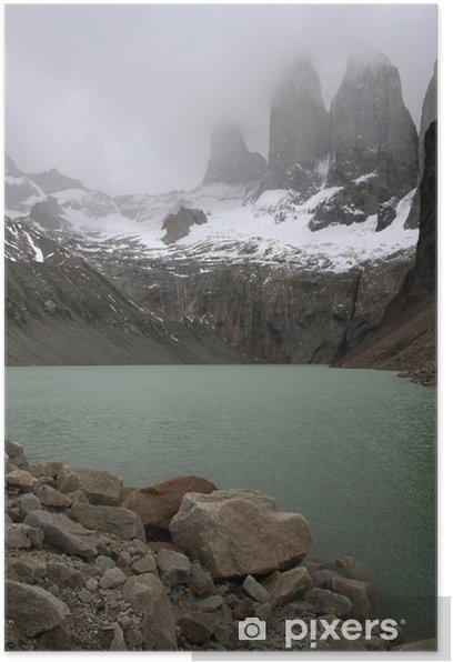 Plakat Torres del Paine i jeziora - Ameryka
