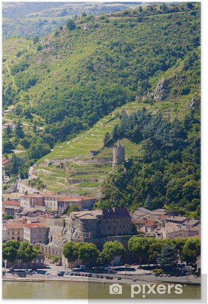 Plakat Tournon-sur-Rhone, Rodan-Alpy, Francja - Europa
