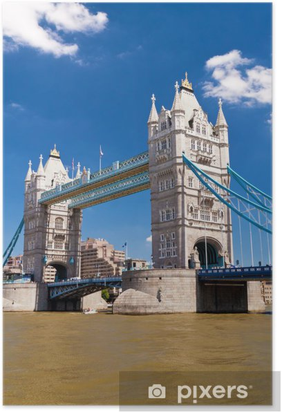 Plakát Tower Bridge v Londýně v krásný letní den - Témata