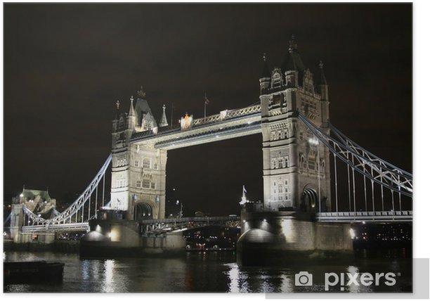 Plakat Tower Bridge w ciemności - Tematy