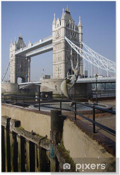 Plakat Tower Bridge w Londynie, w Wielkiej Brytanii - Miasta europejskie