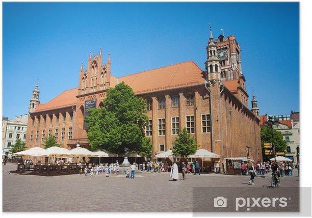 Plakát Town Hall-památka Unesco v polské Toruni - Město