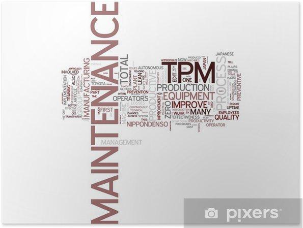 Plakat TPM Total Productive Maintenance - Znaki i symbole