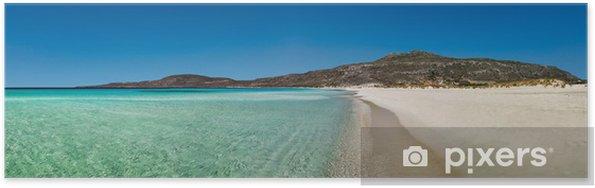 Plakat Tracja panoramiczny widok na plaży, Peloponez, Grecja - Europa