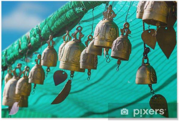 Plakát Tradice asijských zvon Big Buddha chrámovém komplexu v Thajsku - Jiné objekty