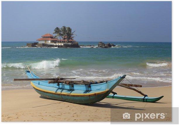 Plakát Tradiční Sri Lanka rybářský člun - Lodě