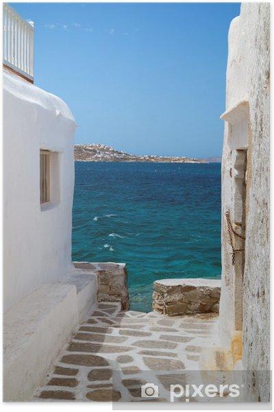Plakat Tradycyjne greckie wyspy Mykonos dom grecja, - Tematy