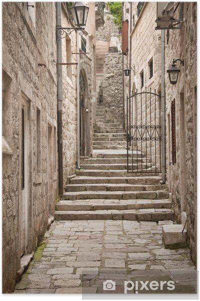 Plakat Tradycyjny dom adriatyckie -