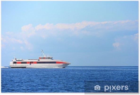 Plakát Trajektu loď na volném moři v Baltském moři - Voda