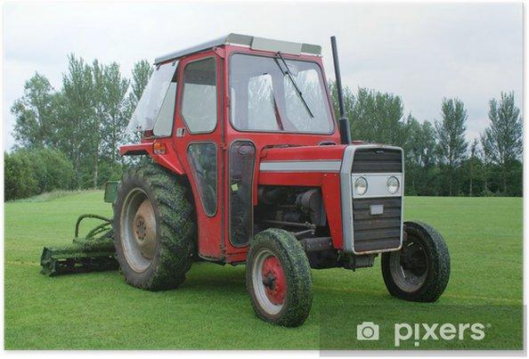 Plakát Traktor s Gang na trávu - Zemědělství