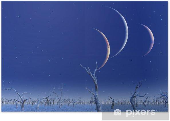 Plakát Tři planety vzroste nad mrtvými zemí - Meziplanetární prostor
