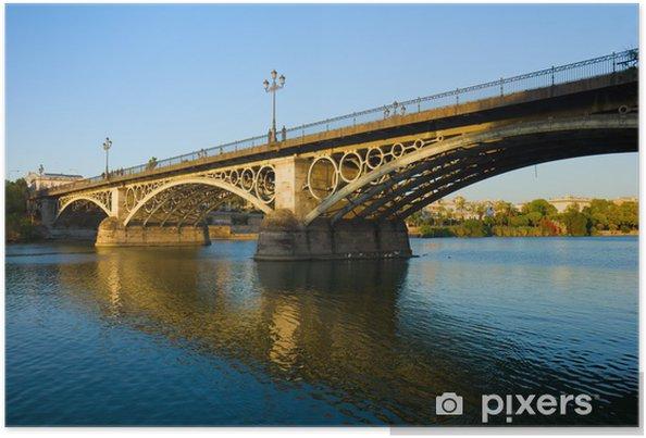 Plakát Triana Bridge, Seville, Španělsko - Španělsko