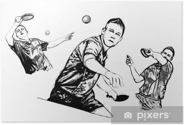 Plakat Trio tenis stołowy - Sporty na świeżym powietrzu