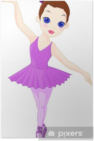 Plakat Trochę baleriny - Naklejki na ścianę