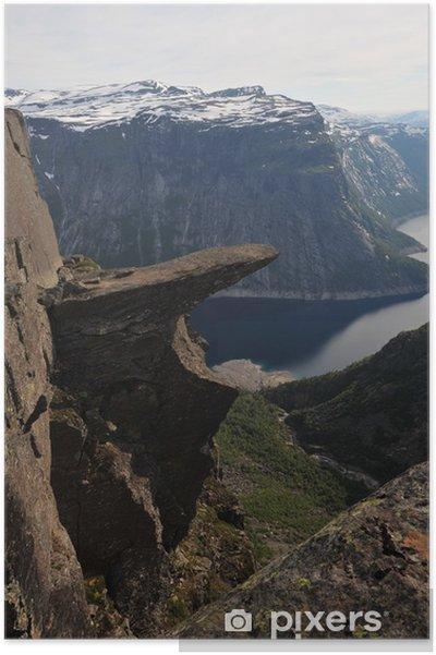 Plakát Trolltongue, Norsko - Hory