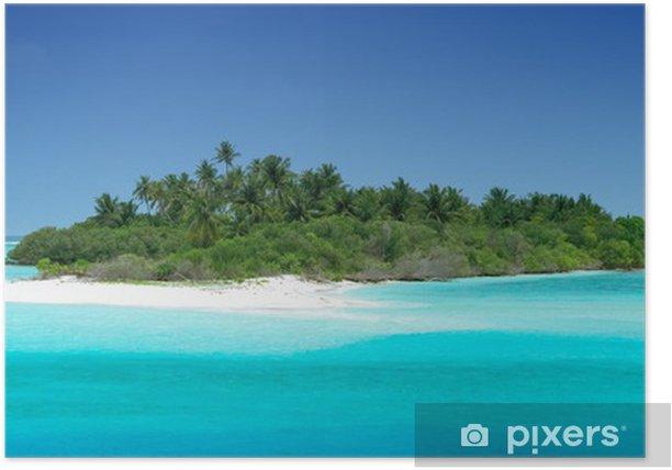 Plakat Tropical bezludnej wyspie - Wakacje