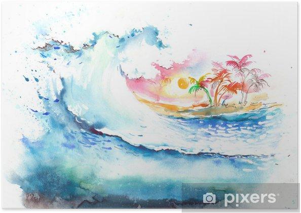 Plakát Tropical téma - Prázdniny