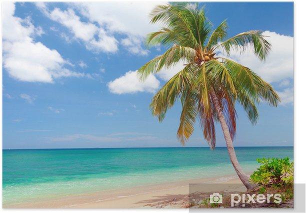 Plakát Tropická pláž s kokosové palmy. Koh Lanta, Thajsko - Voda