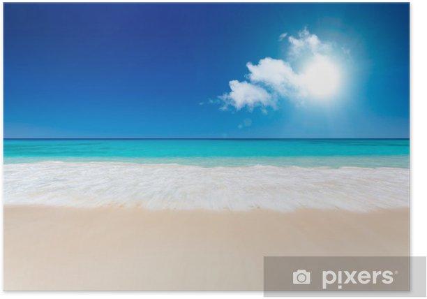 Plakát Tropická pláž - Prázdniny