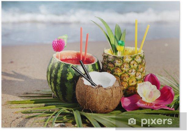 Plakát Tropické koktejly - Alkohol