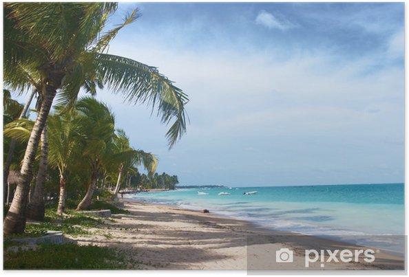 Plakát Tropické pláži v Brazílii - Prázdniny
