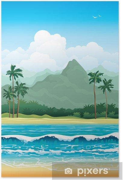 Plakat Tropikalna krajobrazu - Pory roku