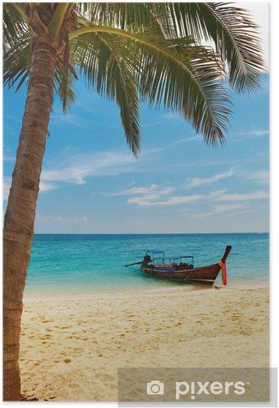 Plakat Tropikalna plaża, Tajlandia - Wakacje