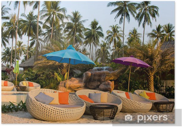 Plakat Tropikalna plaża w Tajlandii. - Azja