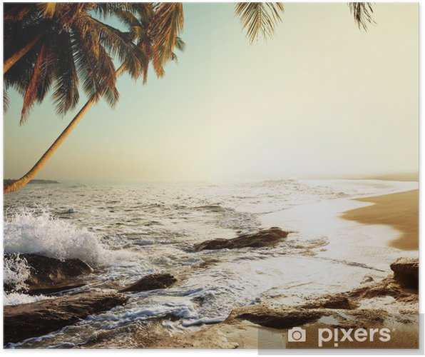 Plakat Tropikalna plaża - Wakacje