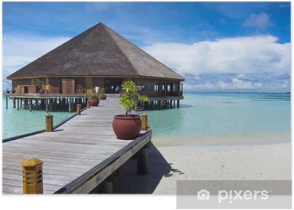 Plakat Tropikalna wyspa. Malediwy - Wyspy
