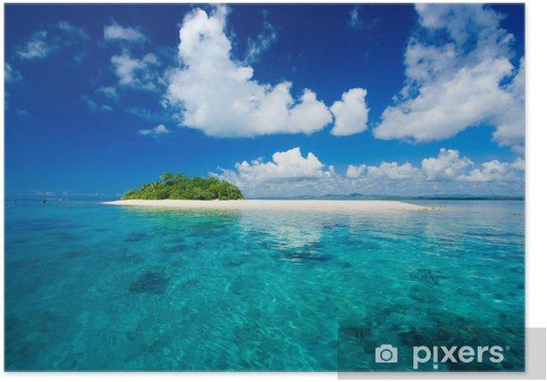 Plakat Tropikalna wyspa raj wakacje - Wakacje
