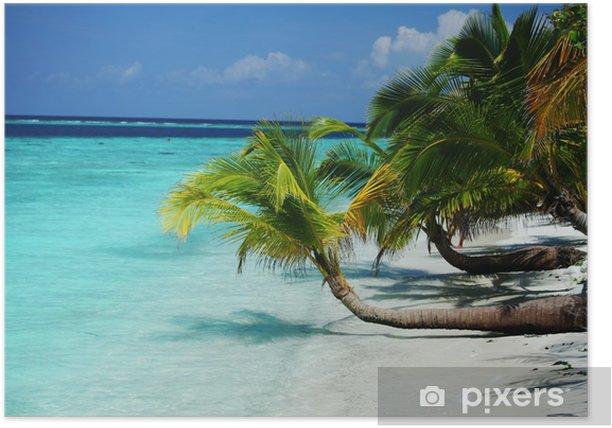 Plakat Tropikalna wyspa - Wakacje