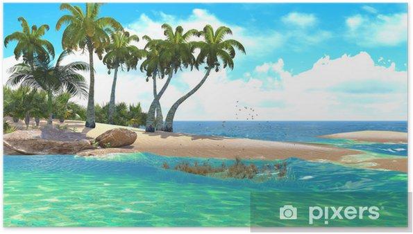 Plakat Tropikalny raj na plaży - Ameryka Północna