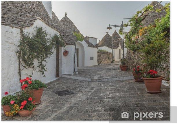 Plakat Trulli Alberobello. Puglia. włochy. - Europa